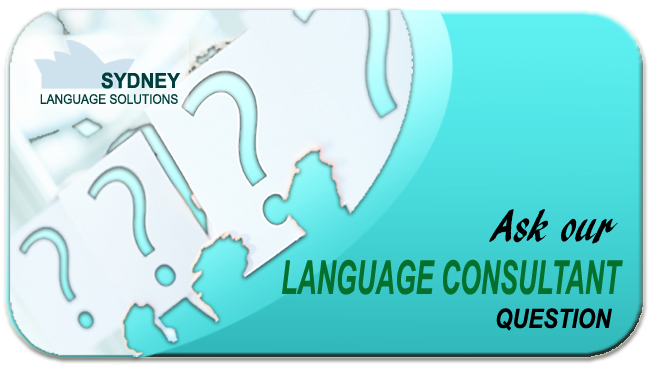 Ask our Language Consultant