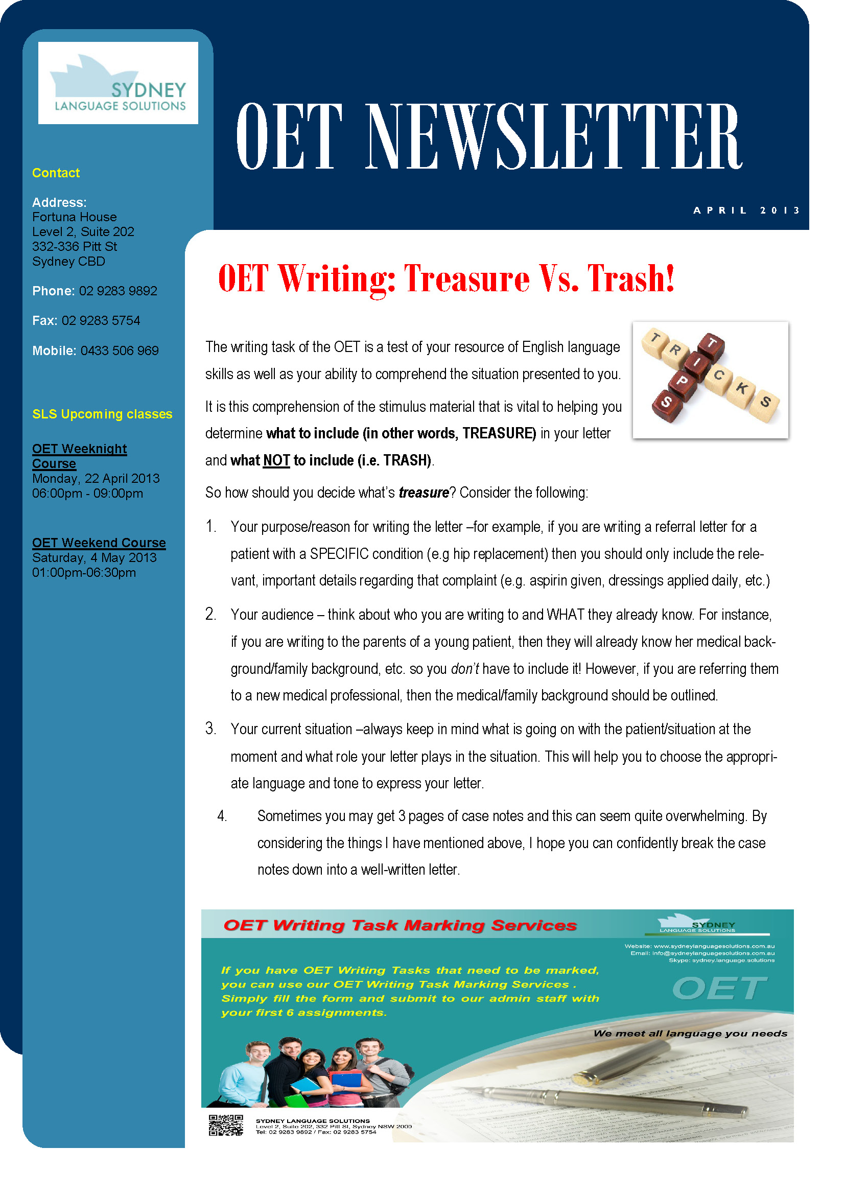 IELTS_OET_Newsletter_April