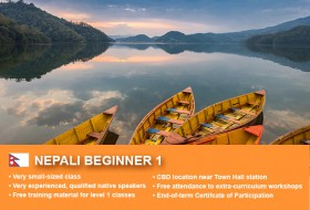 Affordable Nepali Beginner 1 Course in Sydney CBD with small classes! Learn basic conversational proficiency over the 10-week course with free materials.