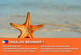 Affordable Tagalog Beginner 1 Course in Sydney CBD with small classes! Learn basic conversational proficiency over the 10-week course with free materials.
