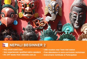 Learn Nepali Beginner 2 in Sydney CBD within small classes! Improve your conversational proficiency over 10 weeks with free materials.
