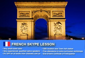 Improve your French language skills with tutorials via Skype. Different lesson durations and flexible times are available to suit your learning needs.