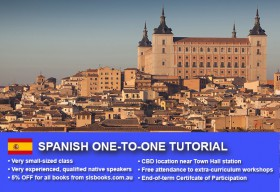 Improve your Spanish language skills with tailored private tutorials in Sydney CBD. Different durations and flexible times are available to suit your needs
