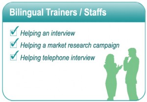 Bilingual Trainer or Staffs