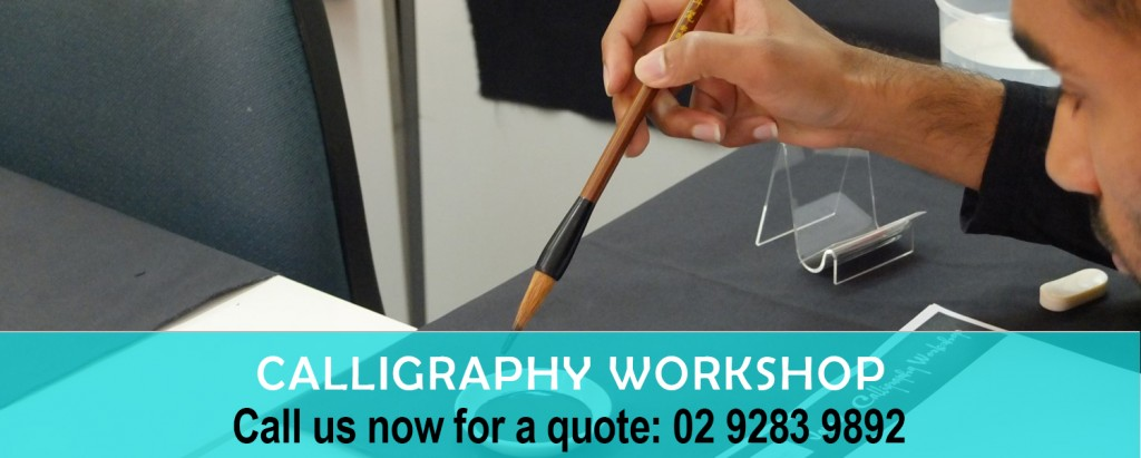 Calligraphy workshop sydney language solutions