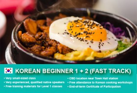Intensive Korean Beginners 1 & 2 Course in Sydney with small classes and free materials! Quickly learn basic conversational proficiency over four weeks!