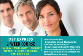Prepare for the OET Exam with an intensive course in Sydney CBD. Learn key exam skills and strategies for all skills to achieve successful OET results.
