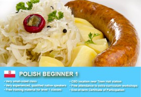 Affordable Polish Beginner 1 Course in Sydney CBD with small classes! Learn basic conversational proficiency over the 10-week course with free materials.