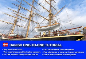 Improve your Danish language skills with tailored private tutorials in Sydney CBD. Flexible times are available to suit your needs.