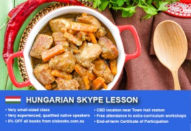 Improve your Hungarian language skills with tutorials via Skype. Different lesson durations and flexible times are available to suit your learning needs.