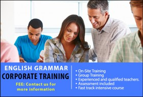 SLS offers English Grammar Corporate Training to companies in Sydney. We provide highly practical, goal-orientated training to rapidly improve the writing skills of learners. A range of exercises will be incorporated to generate feedback and recommendations on learners' writing abilities. Courses will be tailored to meet the specific learning needs of each business. An experienced SLS trainer can facilitate the training at our convenient Sydney CBD location or come to your office location.