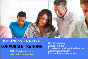 Tailored Business English Corporate Courses in Sydney for companies whose employees require further training. Courses available for all skill levels.
