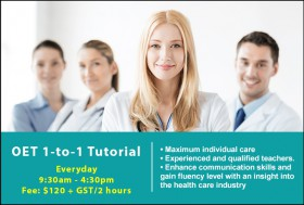 Prepare for the OET Exam with a private OET Tutorial in Sydney. Improve on key exam skills and strategies to achieve successful results.