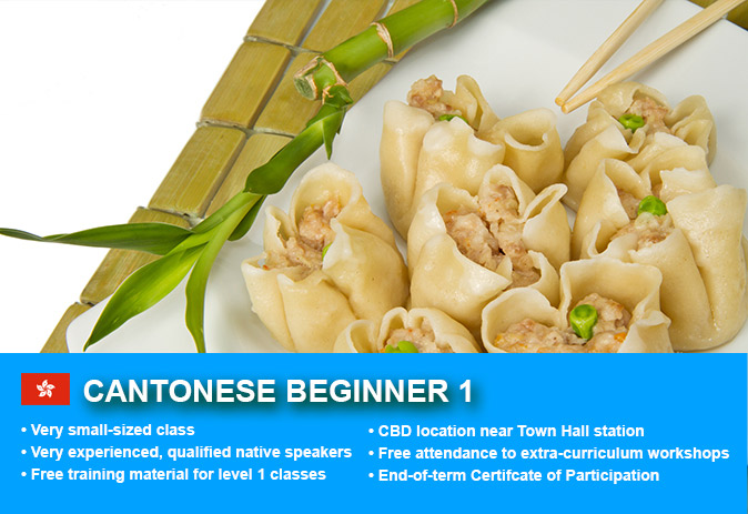 Cantonese Beginner 1 Course in Sydney CBD with small classes! Learn basic conversational proficiency over the 10-week course with free materials.
