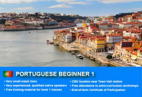 Affordable Portuguese Beginner 1 Course in Sydney with small classes! Learn basic conversational proficiency over the 10-week course with free materials.