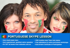 Improve your Portuguese language skills with tutorials via Skype. Different lesson durations and flexible times are available to suit your learning needs.