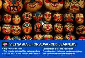 Affordable Vietnamese for Advanced Learners Course in Sydney CBD. Perfect your Vietnamese with free course materials and small class sizes!