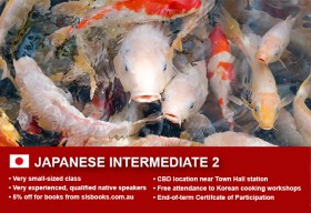 Affordable Japanese Intermediate 2 Course in Sydney CBD with small classes! Learn higher level conversational skills over 10 weeks with free materials.