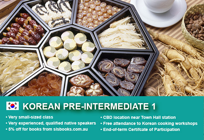 Affordable Korean Pre-Intermediate 1 Course in Sydney CBD with small classes! Advance your conversational proficiency over 10 weeks with free materials.