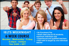 Prepare for the IELTS Exam with an IELTS Preparation Course on weeknights in Sydney. Learn key exam skills and strategies to achieve successful results.