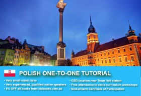 Improve your Polish language skills with tailored private tutorials in Sydney CBD. Flexible times are available to suit your needs.