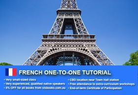 Improve your French language skills with tailored private tutorials in Sydney CBD. Flexible times are available to suit your needs.
