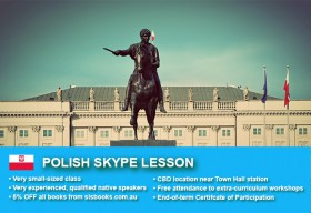 Improve your Polish language skills with tutorials via Skype. Different lesson durations and flexible times are available to suit your learning needs.
