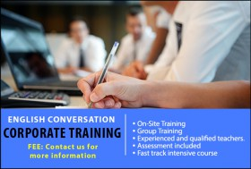 Tailored English Conversation Corporate Courses in Sydney for companies whose employees require further training. Courses available for all skill levels.