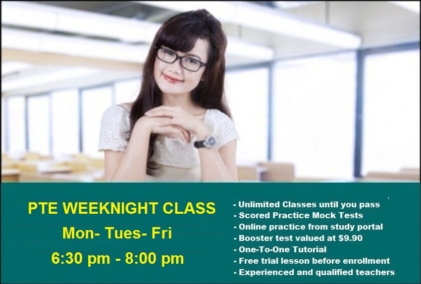 PTE Weeknight course | Sydney Language Solutions